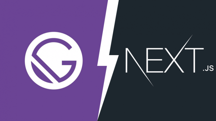 Gatsby vs Next.js logos in a showdown